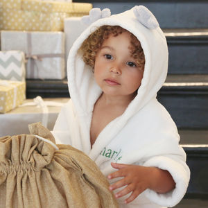Personalised Antler Fleece Dressing Gown - new baby gifts