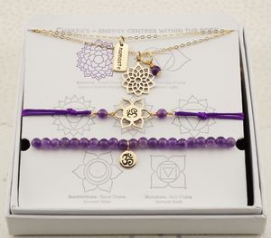Crown Chakra Jewellery Set In Gold Or Silver
