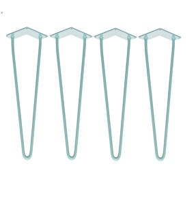 Four X Two Rod Blue Hairpin Legs In All Sizes - dining tables