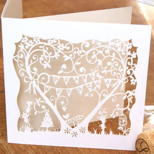 Pearl Wedding Anniversary Card Laser Cut Card - cards sent direct