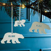 Personalised Polar Bear Christmas Decoration - christmas