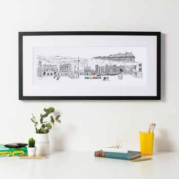 Brighton City Skyline Fine Art Print