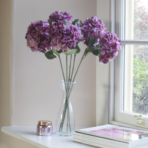 Faux Fuschia Pink Hydrangea Stem - room decorations