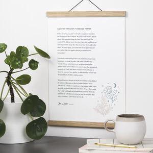Custom Flower Print With Your Words Proof Included