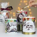Scented Christmas Candles In Ceramic Printed Pot