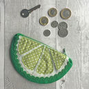 Lime Fruit Coin Purse