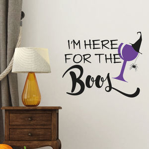 Here For The Boo's Halloween Decoration Sticker - office & study