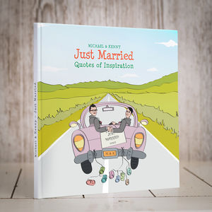 Personalised Mr And Mr 'Just Married' Book