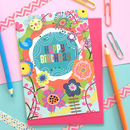 Bright Floral Birthday Card