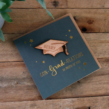Con Grad Ulations Keepsake Card