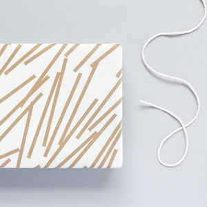 Lines Print Patterned Wrapping Paper - shop by category