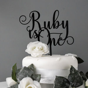 Personalised Age Birthday Cake Topper