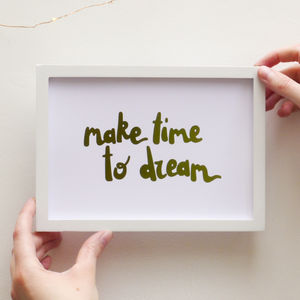Gold Foil Creative Dreamer Quote Print - pictures & prints for children