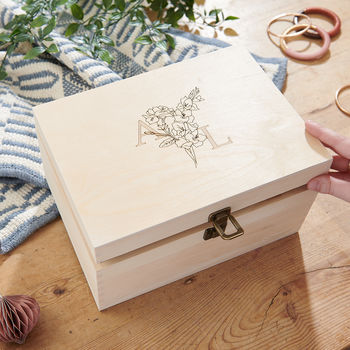 wedding birth flower box