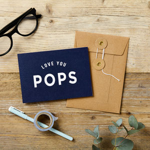 Love You Pop's Father's Day Card - father's day cards