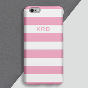 Personalised Striped Mobile Phone Cover