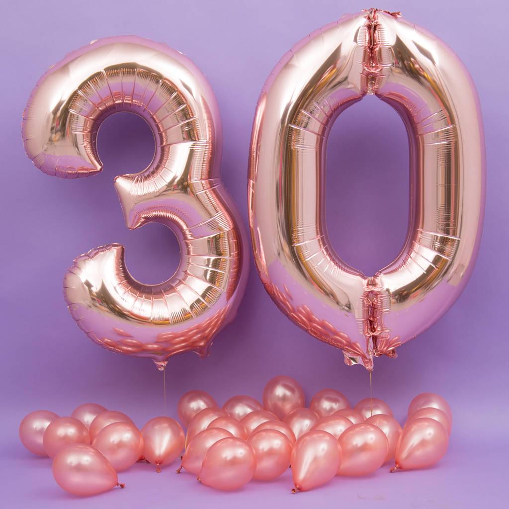 Happy 30th Birthday Balloons