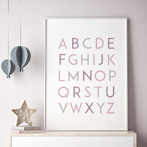 Alphabet Print - posters & prints for children