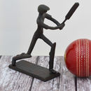 Cricket Player Sculpture