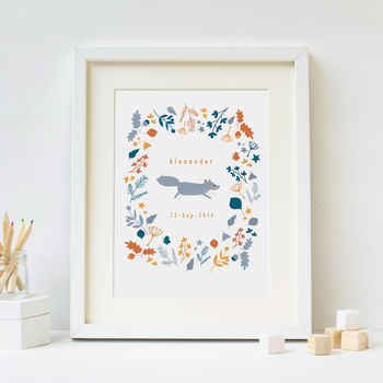 Personalised Magic Forest Nursery Print