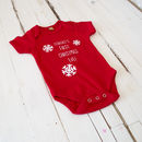 First Christmas Eve Snowflake Babygrow