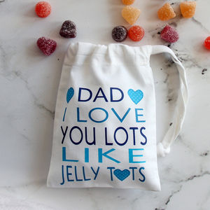 Personalised 'I Love You Lots' Daddy's Sweets - best gifts for fathers