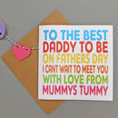 Daddy To Be Father's Day Card