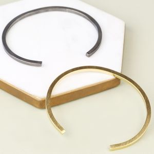 Men's Brushed Bar Bangle - men's jewellery