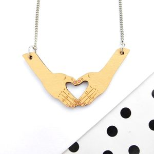 Hand Heart Necklace - necklaces & pendants
