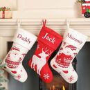 Nordic Personalised Family Christmas Stockings