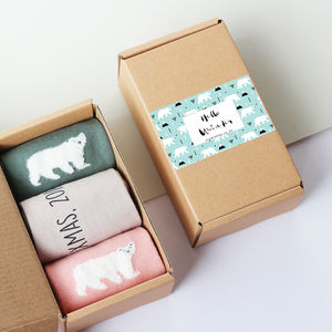 Personalised 'Hello Winter' Sock Box - personalised gifts