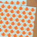 Goldfish Wrapping Paper Two Sheets