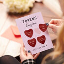Couples Love Tokens Card