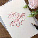 'My Everything' Letterpress Card