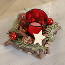 Set Of Two Christmas Star Tealight Holder Centrepiece