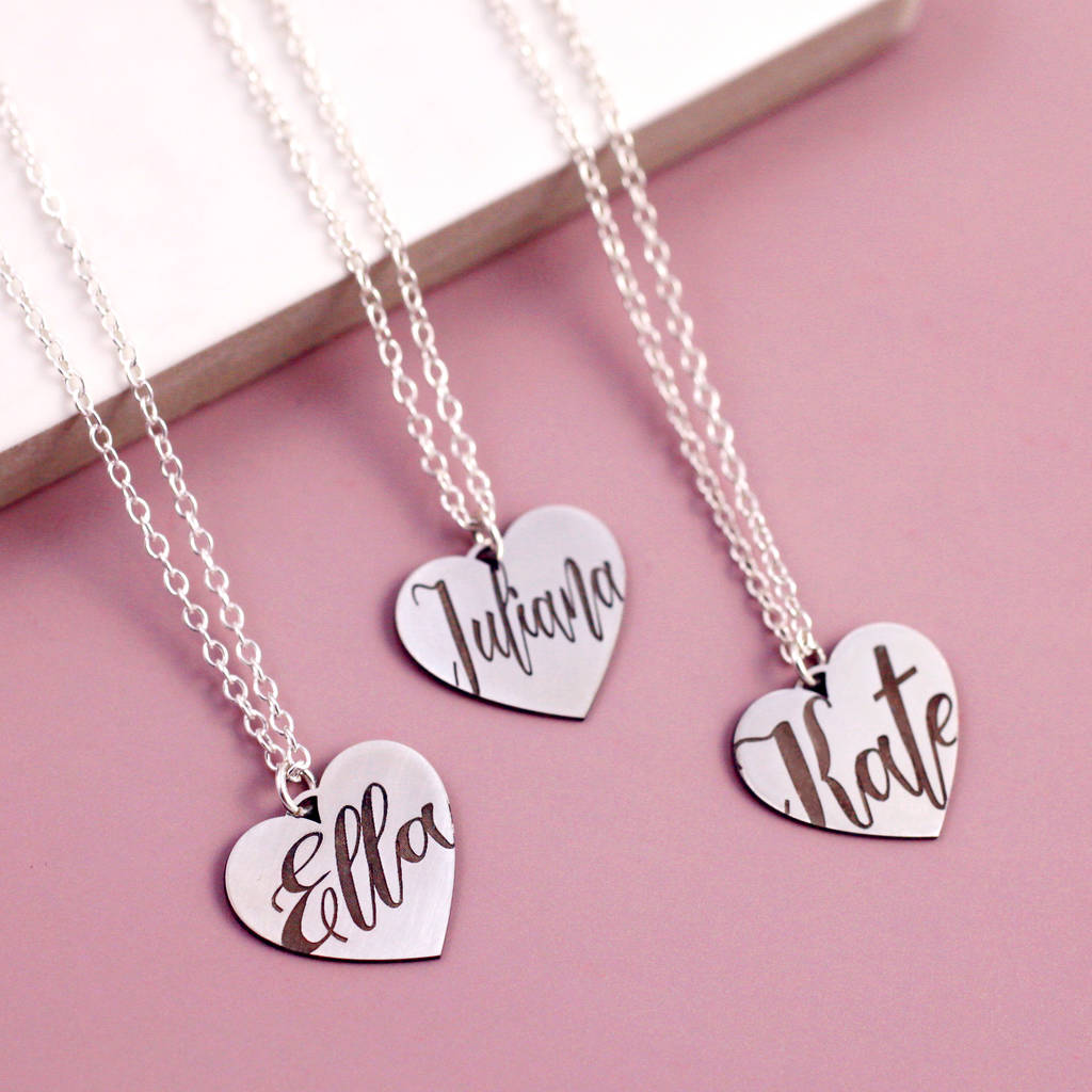 e79aea94c1 bespoke name necklace on sterling silver heart by j&s jewellery ...