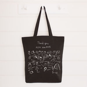 Personalised Class Drawings Teacher Bag - gifts for teachers