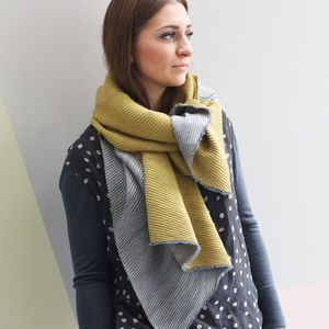 Personalised Pleated Cashmere And Modal Scarf Shawl - gifts for her