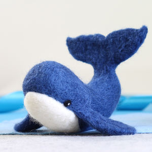 Whale Needle Felting Craft Kit - knitting kits