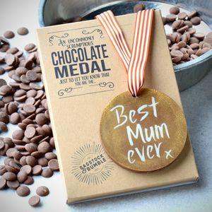 'Best Mum Ever' Chocolate Medal - chocolates & confectionery