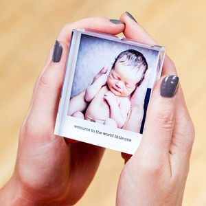 Mini Personalised Photo Acrylic Block - ornaments
