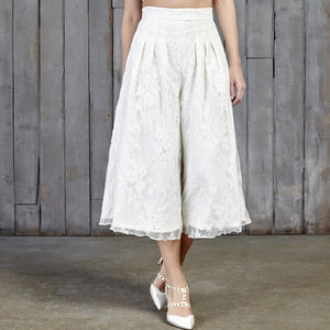 Drakeford Lace Bridal Culottes - wedding dresses