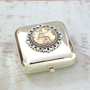 Birthday Coin Pill Box - tins, jars & bottles