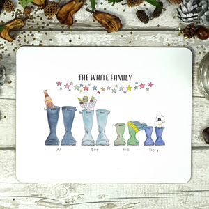 Personalised Welly Boot Placemat - placemats & coasters