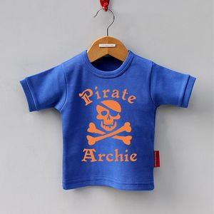 Personalised Pirate Short Sleeved T Shirt