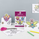 Colour In A6 Card Book Pop Up Fairies