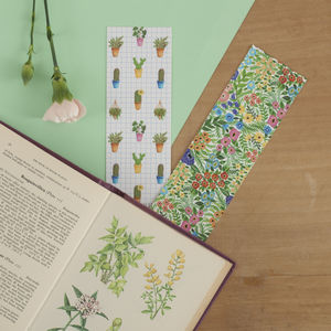 Wildflowers And Cacti Reversible Bookmark