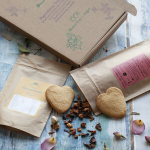 Apple And Cinnamon Tea And Cookies. Letterbox Gift