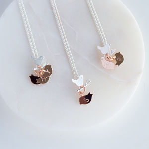 Family Birdie Necklace - personalised jewellery