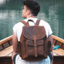 Urban Leather Backpack Rucksack Bag